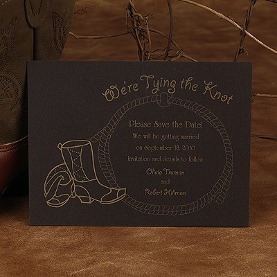 Tying the Knot - Save the Date Card