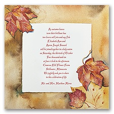 Autumn's Palette - Invitation