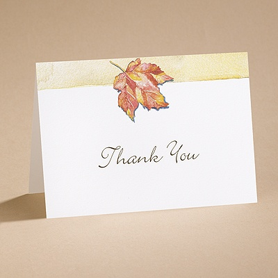 Autumn's Palette - Thank You Card And Envelope