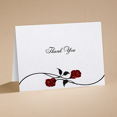 Roses Are Red - Thank You Card and Envelope