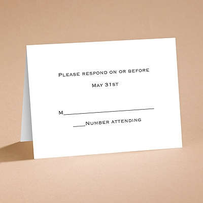 Bright White Response Card and Envelope