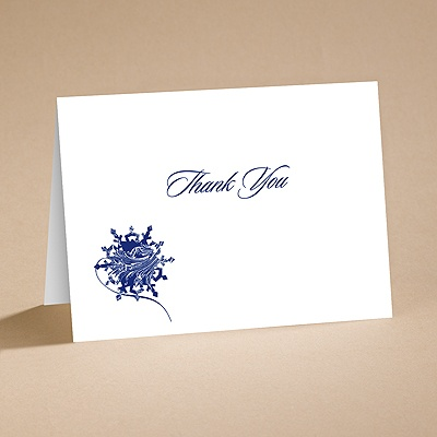 Snow Flurry - Thank You Card Printed and Envelope