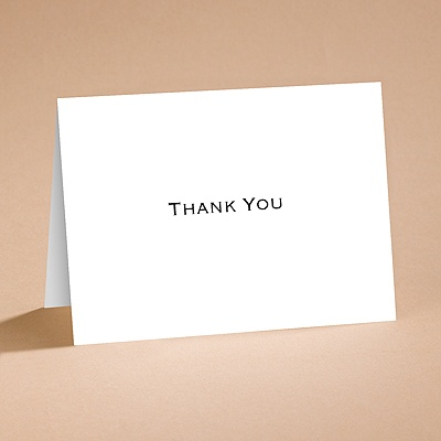 Bright White Thank You Card and Envelope