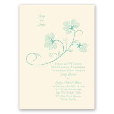 Floral Detail - Ecru - Invitation