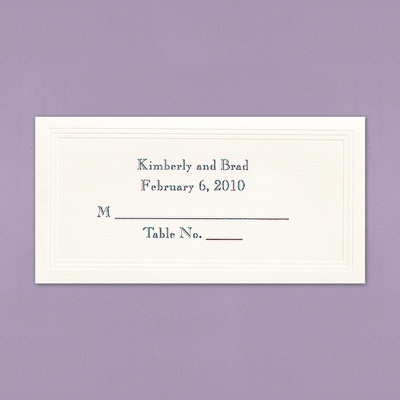 Ecru Triple Panel Place Cards