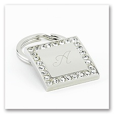 Square Rhinestone Key Chain