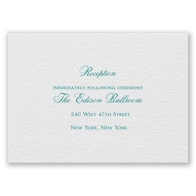 White Shimmer - Foil Reception Card