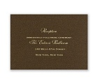 Brown Shimmer - Foil Reception Card