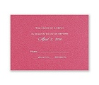 Fuchsia Shimmer - Foil Response Card and Envelope