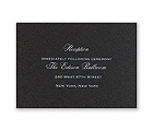 Black Shimmer - Foil Reception Card