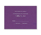 Purple Shimmer - Foil Response Card and Envelope