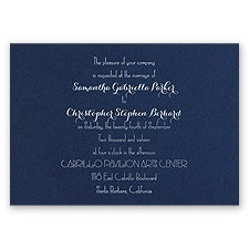 Effortless Beauty - Navy - Foil Invitation