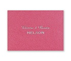 Fuchsia Shimmer - Foil Note Card and Envelope