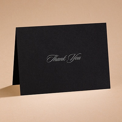 Modern Black - Thank You Card and Envelope