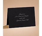 Modern Black - Reception Card