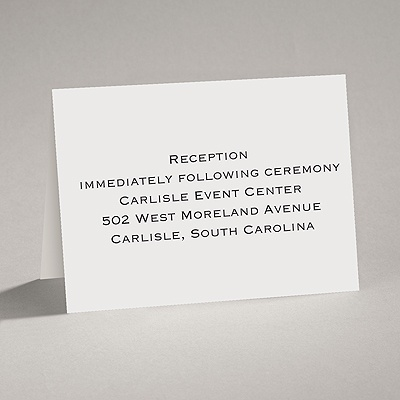 Sheer White - Reception Card