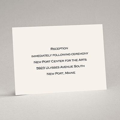 Ecru - Reception Card