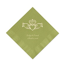 Olive Cocktail Napkin