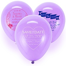 Save the Date Balloon - Lavender