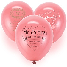 Save the Date Balloon - Rose