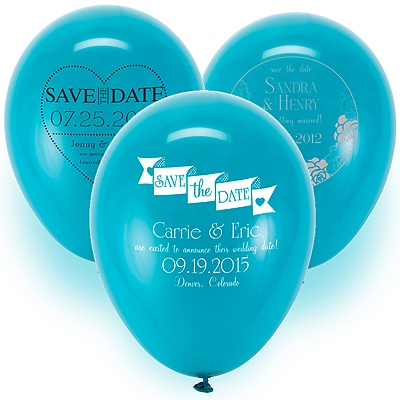 Save the Date Balloon - Teal
