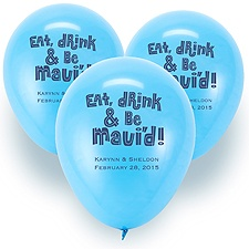Custom Balloons - Baby Blue