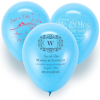 Save the Date Balloon - Baby Blue