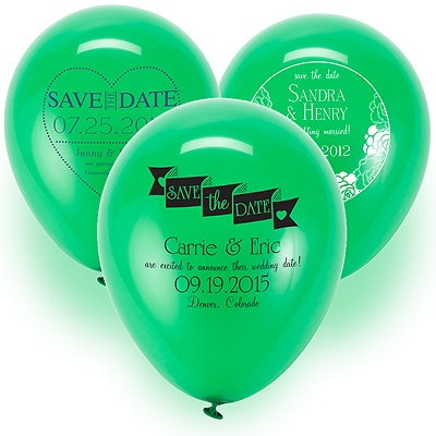 Save the Date Balloon - Green