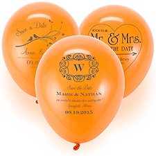 Save the Date Balloon - Orange