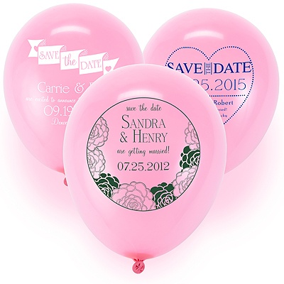 Save the Date Balloon - Pink