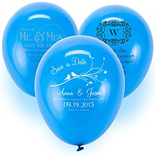 Save the Date Balloon - Royal Blue