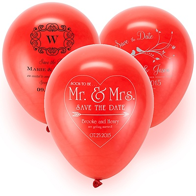 Save the Date Balloon - Red
