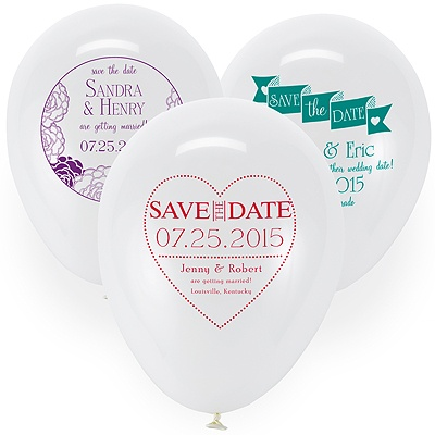 Save the Date Balloon - White