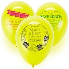 Save the Date Balloon - Yellow