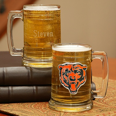 Bears NFL Glass Mug
