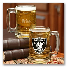 Raiders NFL Glass Mug