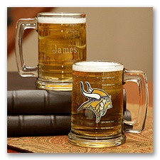 Vikings NFL Glass Mug