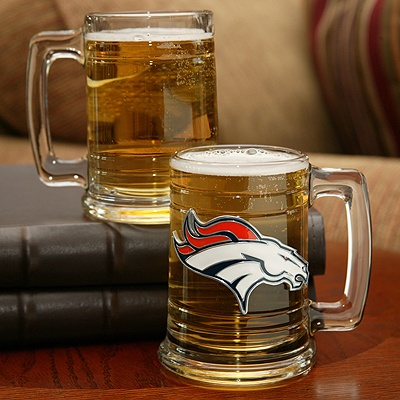 Broncos NFL Glass Mug