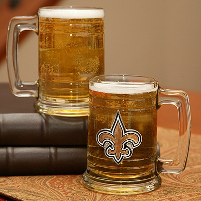 Saints NFL Glass Mug