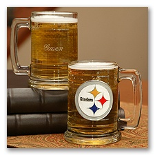 Steelers NFL Glass Mug