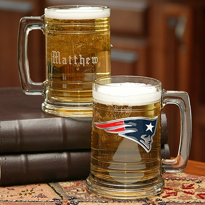 Patriots NFL Glass Mug