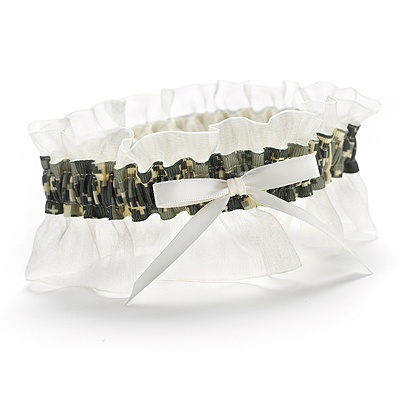 Ruffled Camouflage Wedding Garter