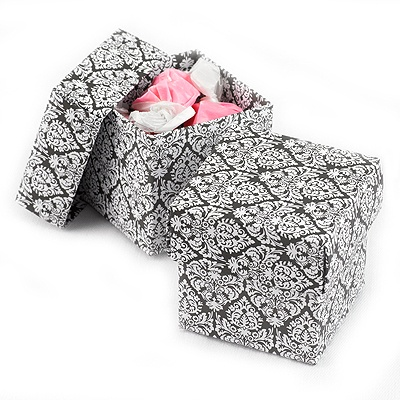 Black and White Damask Two-Piece Favor Boxes