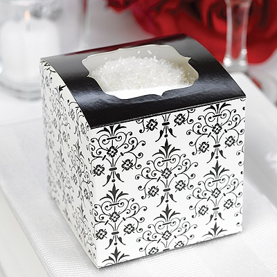 Filigree Cupcake Favor Boxes