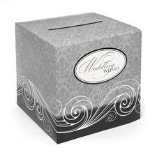 Damask Wedding Wishes Box