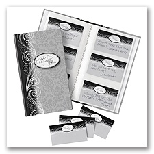 Damask Wedding Wishes Book and Cards