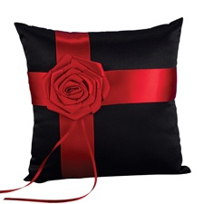 Dramatic Rose Pillow