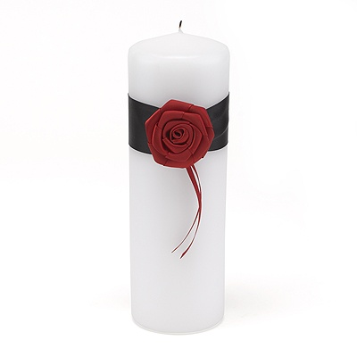 Dramatic Rose Unity Candle