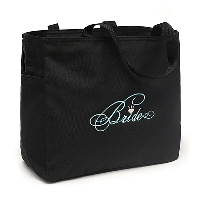 Embroidered Bride Tote Bag