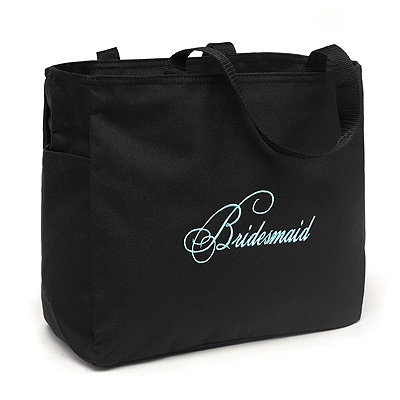 Embroidered Bridesmaid Tote Bag